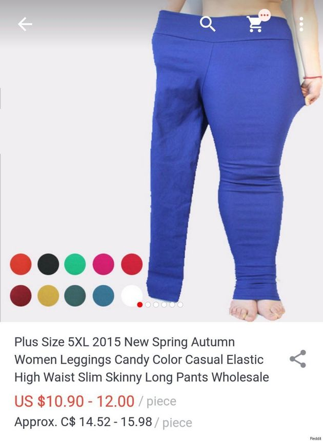 9bddb775519ae4 Plus-Size Legging Ad Uses Small Model In One Pant Leg | HuffPost Canada