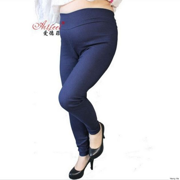Plus-Size Legging Ad Uses Small Model In One Pant