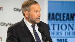 Mulcair Keeps 'Angry Tom' At Bay With 'Creepy' Smile During