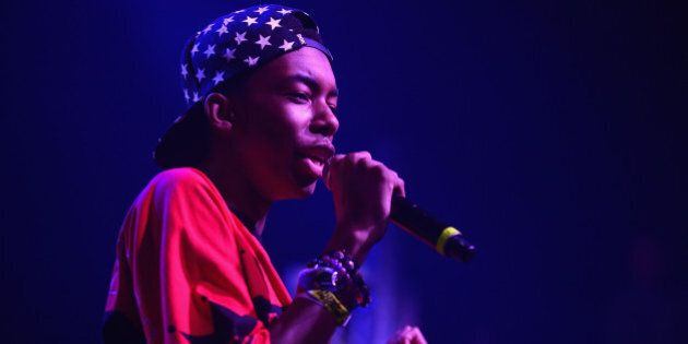 AUSTIN, TX - MARCH 14:  Rapper Bishop Nehru performs during the Mass Appeal Showcase during the 2014 SXSW Music, Film + Interactive at Austin Music Hall on March 14, 2014 in Austin, Texas.  (Photo by Michael Loccisano/Getty Images for SXSW)