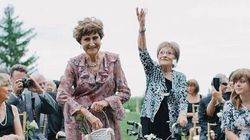 'Flower Grannies' Pave The Path For Canadian Bride And