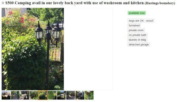 Vancouver Yard For Rent: 'Budget Travellers' Can Camp In The City For