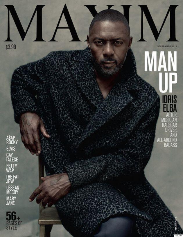 Idris Elba Covers Maxim's First-Ever Non-Female
