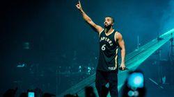 Drake Debuts Redesigned Raptors Jersey At OVO