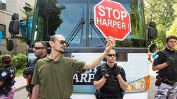 Anti-Harper Protesters Crash Rally, 1 Man