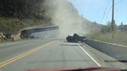 Dozens Injured In Deadly Bus Crash On B.C. Highway