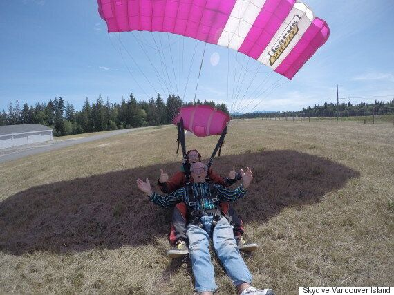 Frank Webb Fulfils Decades-Old Skydiving Dream For 86th Birthday