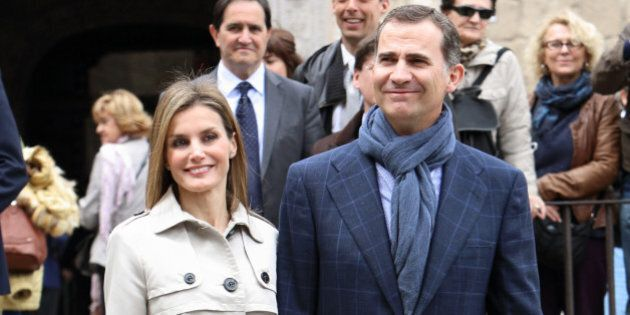 TOLEDO, SPAIN - MAY 22: Princess Letizia of Spain and Prince Felipe of Spain celebrate their 10th Wedding...