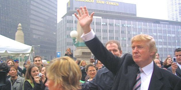 Chicago, IL, USA - October 28, 2004: An overcast afternoon view of real estate developer Donald Trump,...