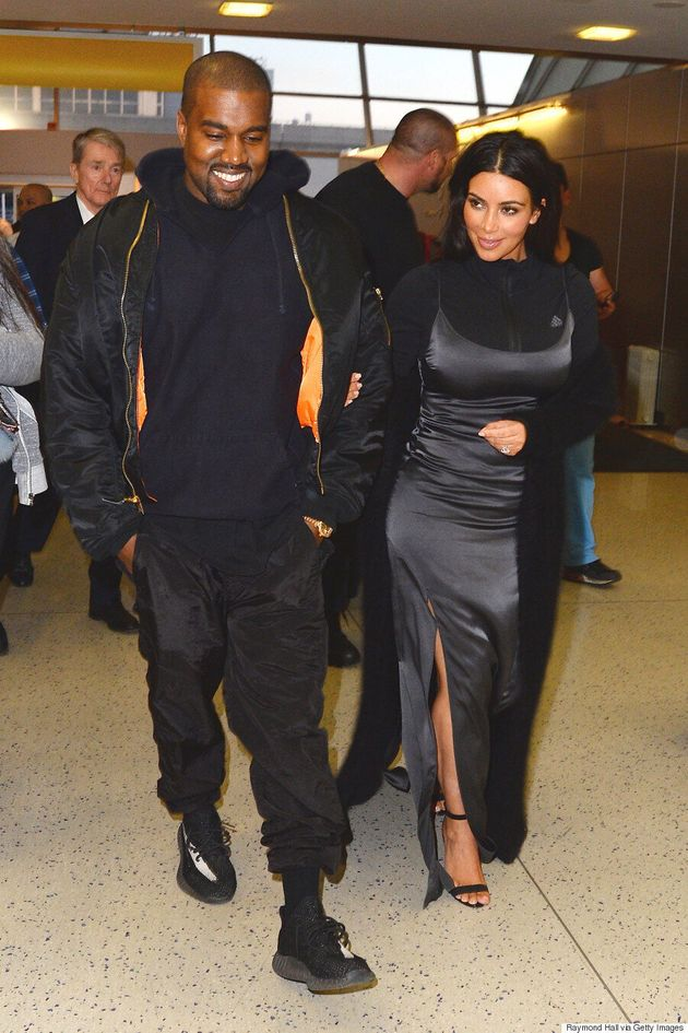 Kim Kardashian Wears Zip-Up Jacket Underneath Dress, Says She Was Inspired By North