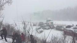 Cars Crash And People Flee In Bonkers Highway 10 Pileup