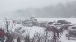 ► 50-Vehicle Pileup Shuts Down Quebec