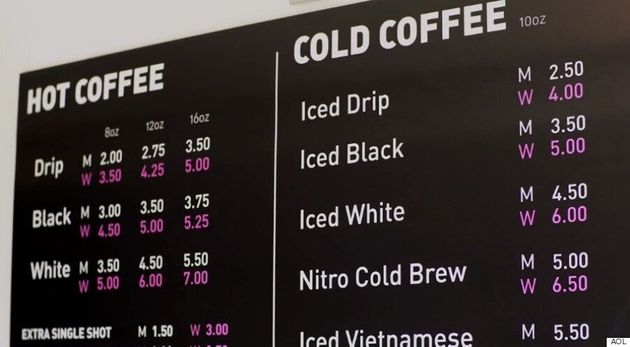 Toronto Coffee Shop Charges Women More Than Men, Highlights Sexist Pink