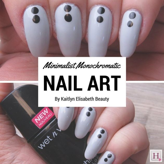 Nail Art: An Easy Minimalist, Monochromatic