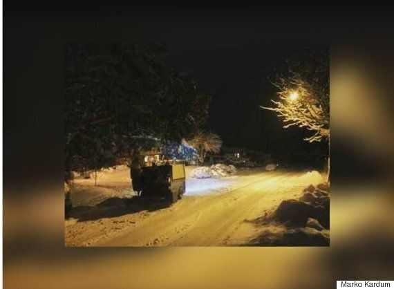 Zamboni Driver In Greater Victoria Takes To The Streets To Clear