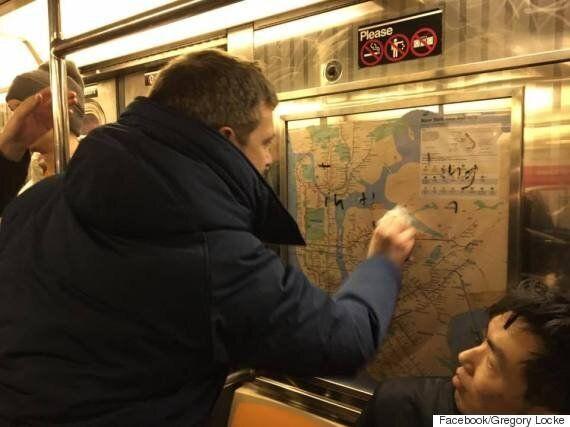 New York Subway Commuters Scrub Swastikas Away Using Hand Sanitizer And