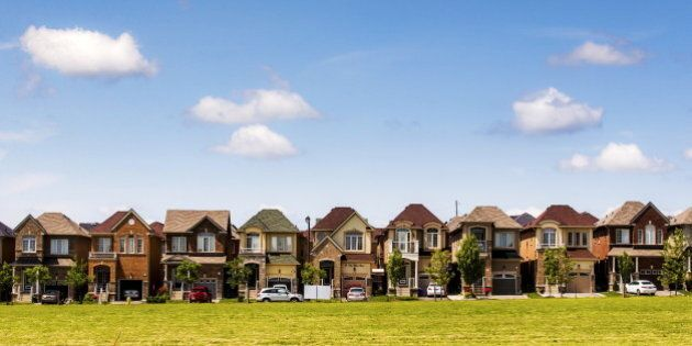 Houses are seen in a suburb located north of Toronto in Vaughan, Canada, June 29, 2015. REUTERS/Mark...
