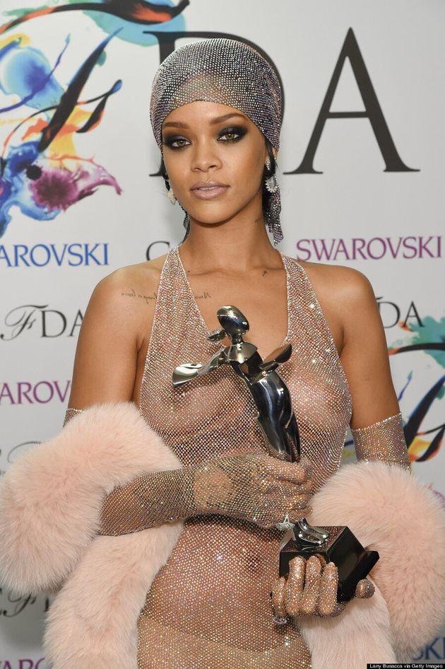 Rihanna Is Practically Naked At CFDA Fashion Awards