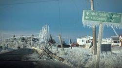 Violent N.B. Ice Storm Toppled Power Poles Like