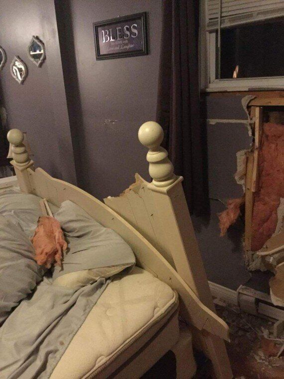 Newfoundland Windstorm Sends Canoe Flying Into Woman's