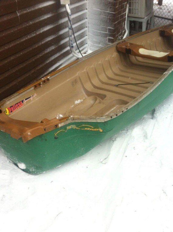 Newfoundland Windstorm Sends Canoe Flying Into Woman's