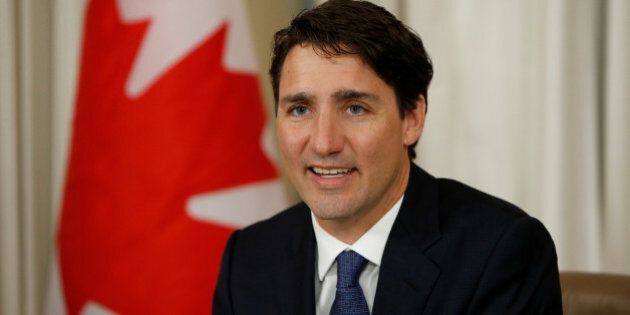 Canada's Prime Minister Justin Trudeau speaks during a meeting with representatives of the Congress of...