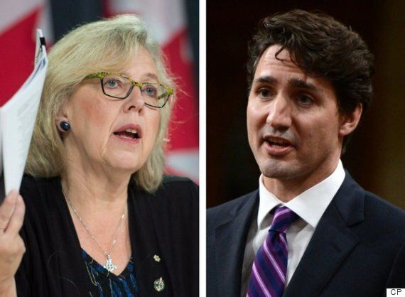Elizabeth May: Trudeau's Tweet About Refugees Is Hollow Without