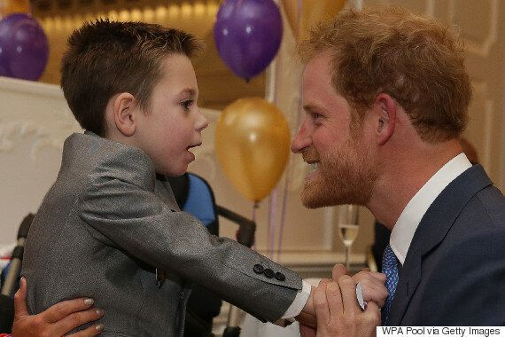 Prince Harry Charity: Little Boy Uses All His Strength To Give Royal Sweetest