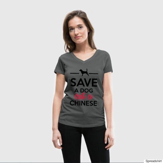 'Save A Dog, Eat A Chinese' T-Shirt Is A Disgusting Display Of