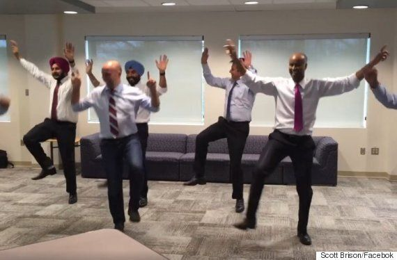 Liberal MPs Blow Off Steam With An Impromptu Bhangra