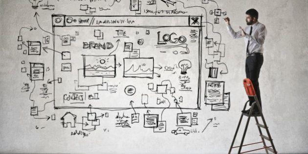 Web designer at work