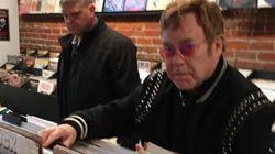 How Does Elton John Spend Time In Vancouver? Shopping For Vinyl,