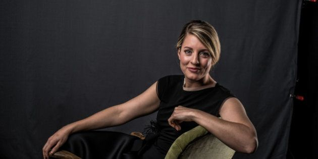 CALGARY, ALBERTA - APRIL 03: Heritage Minister Melanie Joly poses at the 2016 Juno Awards Portrait Studio...