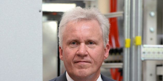 Jeff Immelt, chairman and CEO of General Electric, poses at GE Energy company in Berlin, Germany on July...