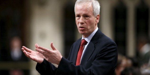 Canada's Foreign Minister Stephane Dion speaks during Question Period in the House of Commons on Parliament Hill in Ottawa, Canada, January 26, 2016. REUTERS/Chris Wattie