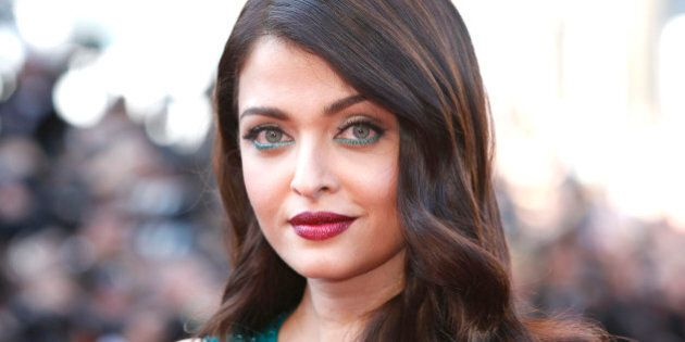 Aishwarya Rai Bachchan poses for photographers upon arrival for the screening of the film Carol at the...