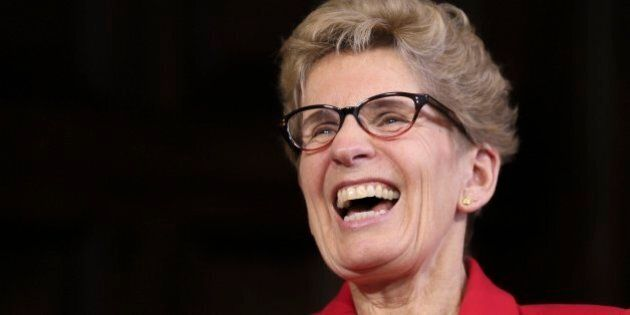 TORONTO, ON - DECEMBER 19  -  Premier Kathleen Wynne during a year-end interview with Rob Benzie and Martin Regg Cohn in her Queen's Park office, December 19, 2016.        (Andrew Francis Wallace/Toronto Star via Getty Images)