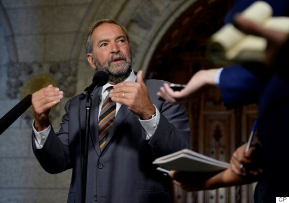 Mulcair Urges Trudeau To Push Back At Trump's Keystone