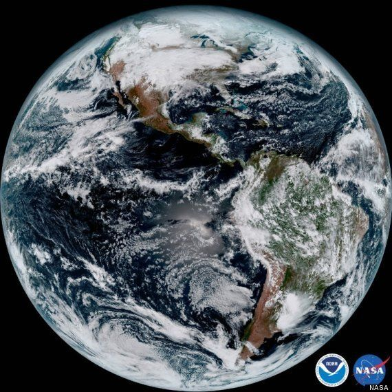 GOES-16 Satellite Shows Earth In Crystal Clear