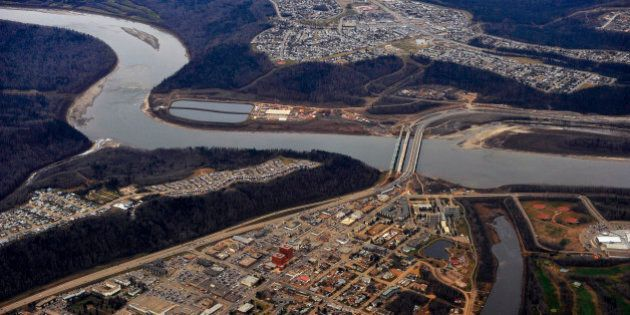 The Athabasca river runs through the city of Fort McMurray, Alberta, November 3, 2011. Fort McMurray...