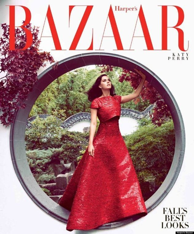 Katy Perry Graces Harper's Bazaar On Two Stunning