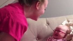 That Perfect Moment When A Baby Sees Mom For The First