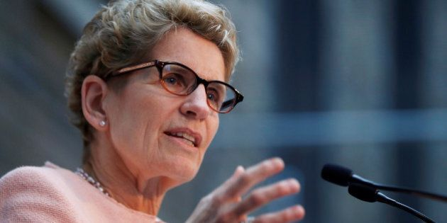 Premier of Ontario Kathleen Wynne speaks during an announcement from healthcare group Bayer, and venture...