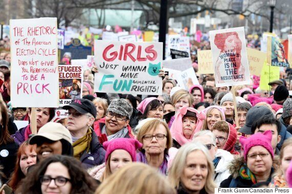 Canadians Take To The Streets To Support Women's Rights In Shadow Of