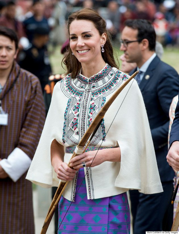 Kate Middleton Does Archery In Bhutanese-Inspired Ensemble On Day 5 Of India Royal