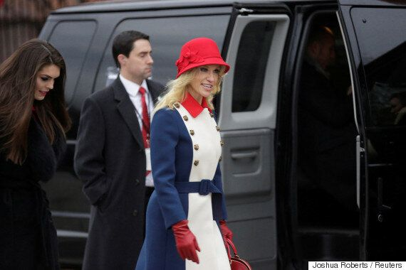 Kellyanne Conway Wears Her Patriotism On Her Sleeve, And Hat, And