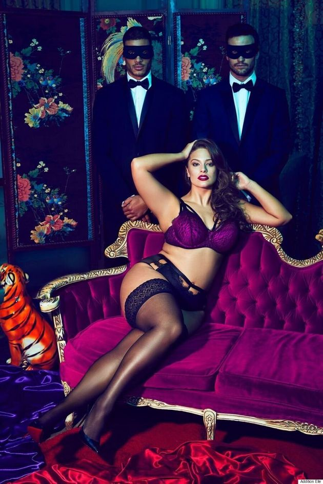 Ashley Graham Seduces In Dark Beauty Collection For Addition