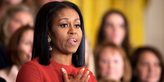Michelle Obama gives her final speech as first lady at the 2017 School Counselor of the Year ceremony...