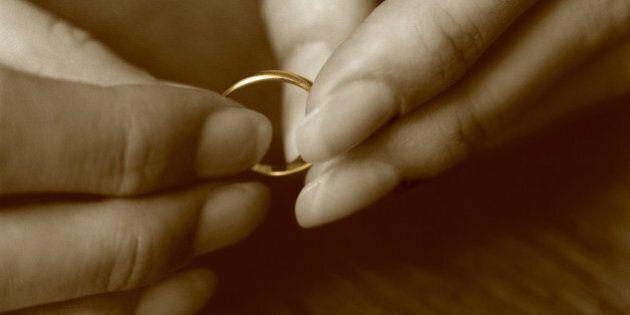 Female hands holding wedding