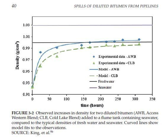 On The Behaviour Of Diluted Bitumen In A Marine